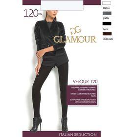 Колготки женские GLAMOUR Velour 120 den, цвет тёмный загар (chocolate), размер 5