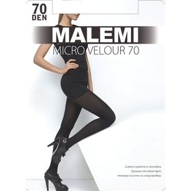 купить Колготки женские MALEMI Micro Velour 70 цвет чёрный nero, р-р 4