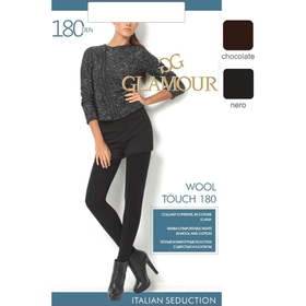 Колготки женские GLAMOUR Wool Touch 180 цвет чёрный (nero), р-р 2