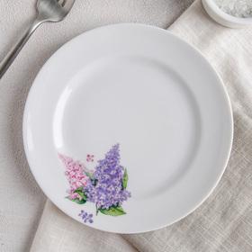 Тарелка мелкая Добрушский фарфоровый завод«Сирень», d=17 см