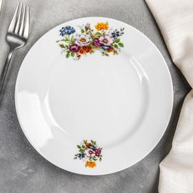 Тарелка мелкая «Букет цветов», d=20 см
