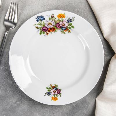 Тарелка мелкая Добрушский фарфоровый завод «Букет цветов», d=20 см