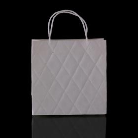 Пакет подарочный 'Париж', белый, 8 х 20 х 20 см Ош