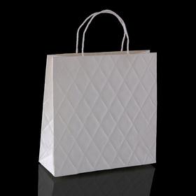 Пакет подарочный 'Париж', белый, 10 х 28 х 28 см Ош