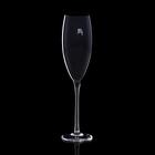 """Бокал для шампанского """"Мечта"""", черный, 330мл"""