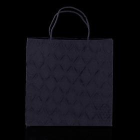 Пакет подарочный 'Париж', чёрный, 10 х 28 х 28 х см Ош