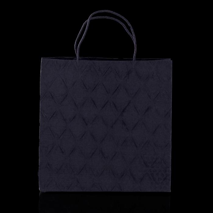 """Пакет подарочный """"Париж"""", чёрный, 10 х 28 х 28 х см"""