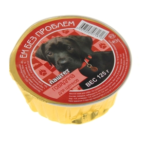 """Влажный корм """"Ем без проблем"""" для щенков, говядина, ламистер, 125 г"""