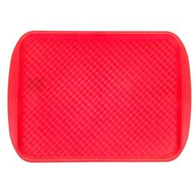 Поднос, 49,5х35 см, цвет красный
