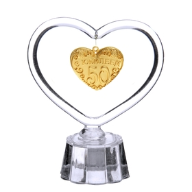 Сувенир - сердце с подвеской 'С Юбилеем 50' Ош