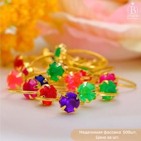 Кольцо детское 'Стразинка' радуга малая, цвет МИКС, размер МИКС Ош