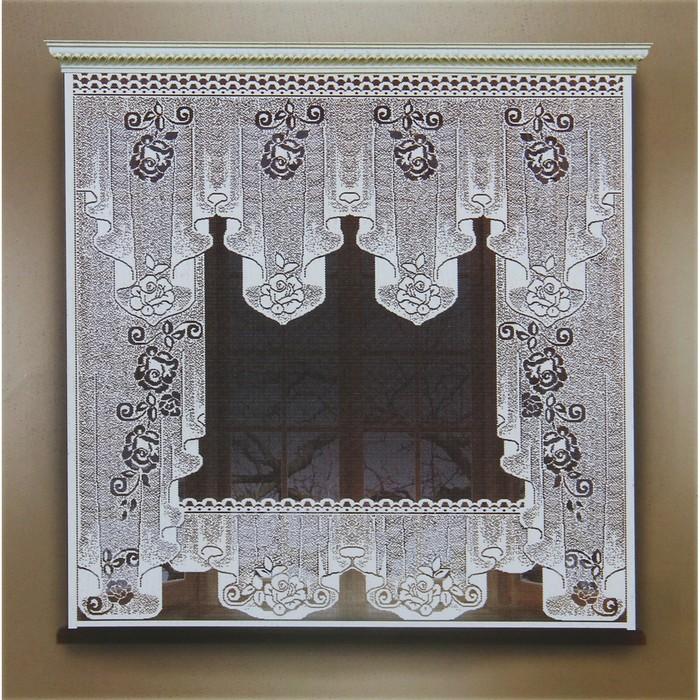 Штора 170х160 см, белый, 100 пэ, без шторной ленты