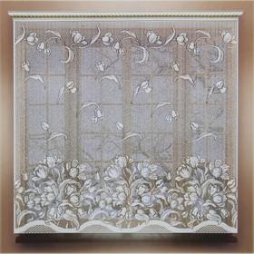 Штора 160х165 см, белый, 100% п/э, без шторной ленты Ош