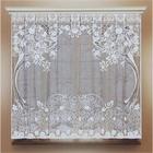 Штора кухонная 140х170 см, белый, 100% п/э, без шторной ленты