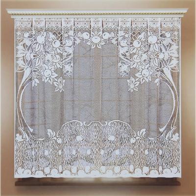 Штора кухонная 140х70 см, белый, 100% п/э, без шторной ленты