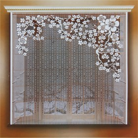 Штора 170х165 см, белый, 100% п/э, без шторной ленты Ош