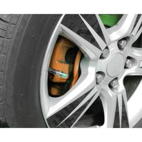 Индикатор уровня давления в шинах, колпачок на ниппель, 2.4 атм, 4 шт Ош