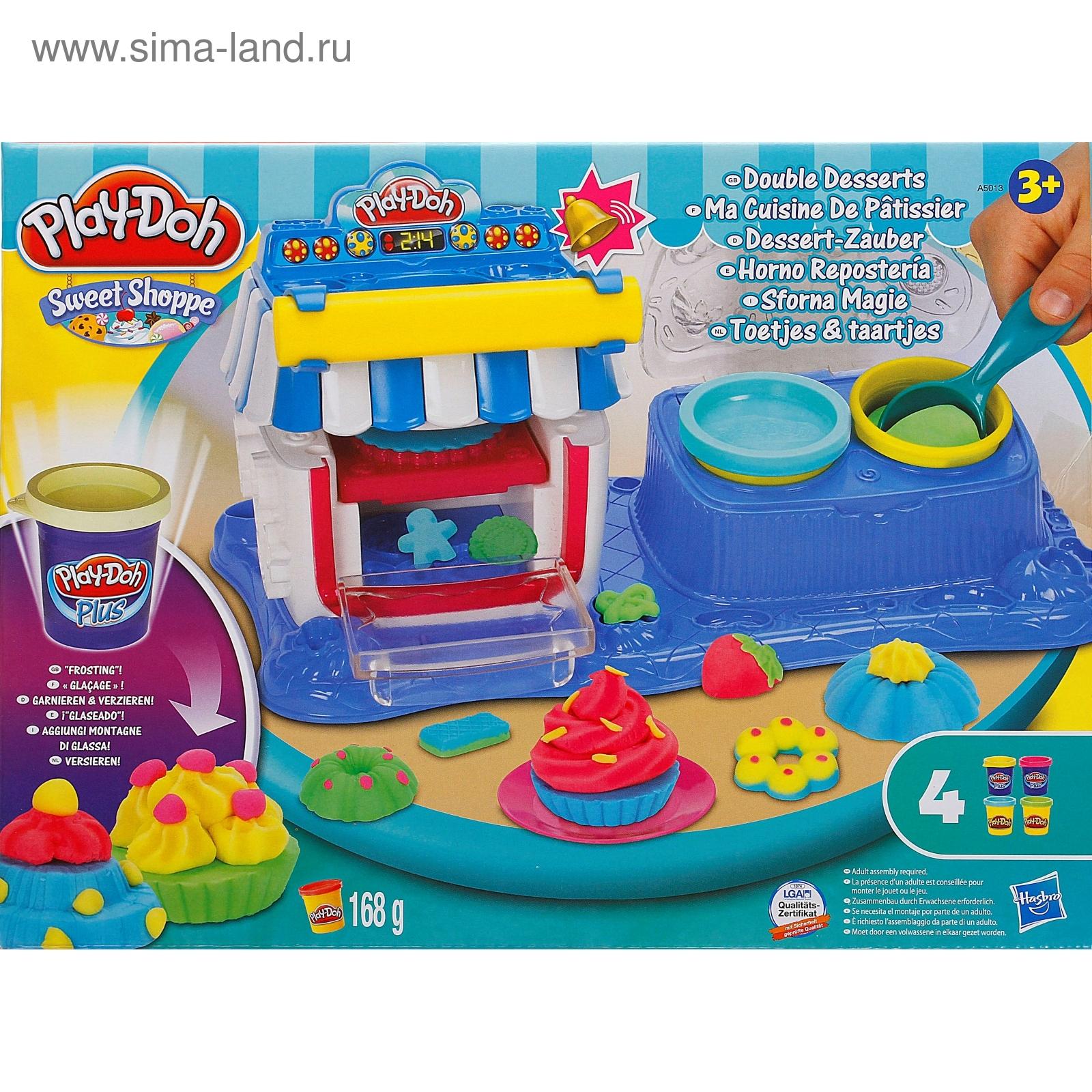 набор игровой двойные десерты play-doh