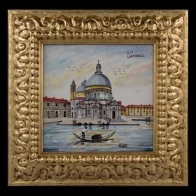Картина керамическая 'Венеция. Собор Санта-Мария-делла-Салюте' Ош
