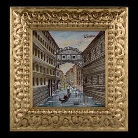 """Картина керамическая """"Венеция. Мост вздохов"""""""