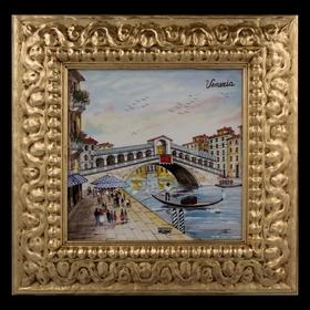 Картина керамическая 'Венеция. Мост Риальто' Ош