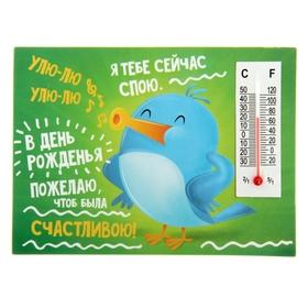 Магнит с термометром «В День Рождения будь счастливой» Ош