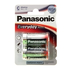 Батарейка алкалиновая Panasonic Everyday Power, C, LR14-2BL, 1.5В, блистер, 2 шт.