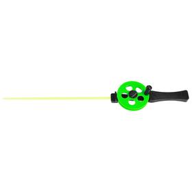 Удочка зимняя «Профи» УП-3, пластиковая ручка, хлыст поликарбонат, цвет зелёный
