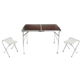 Набор туристический складной: стол, размер 90 х 60 х 70 см, 2 стула Ош
