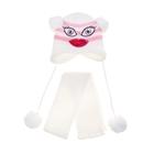 Комплект детский зимний: шапка в полоску, шарф, объем головы 46-48см (1-2года), цвет микс