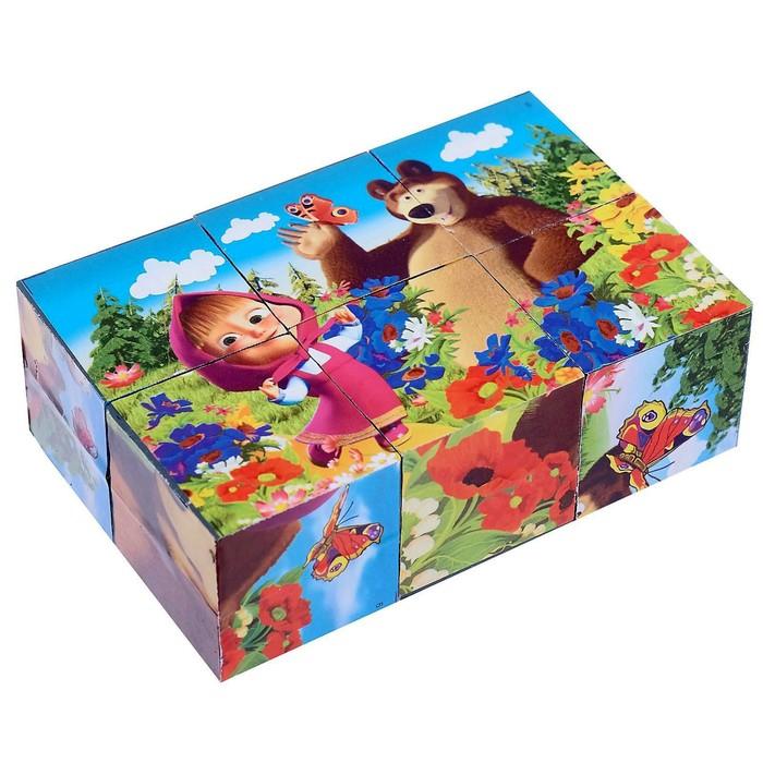 """Кубики """"Маша и Медведь"""", 6 штук"""
