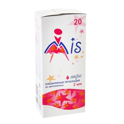 Прокладки ежедневные «Mis» целлюлоза Soft, 20 шт/уп - Фото 1