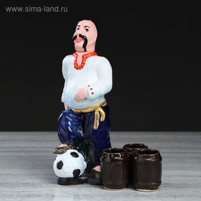 """Штоф с рюмками """"Футболист"""" цветной, 4 предмета, 0,75 л, микс"""