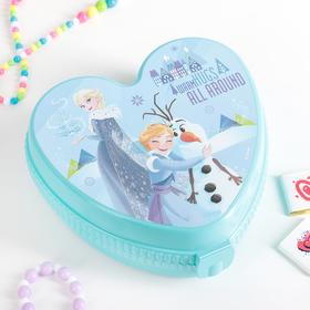 Шкатулка детская 'Холодное сердце', цвет бирюзовый, МИКС Ош