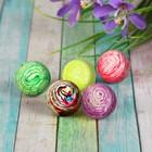 Мяч каучуковый «Полосатики», 4,5 см, цвета МИКС