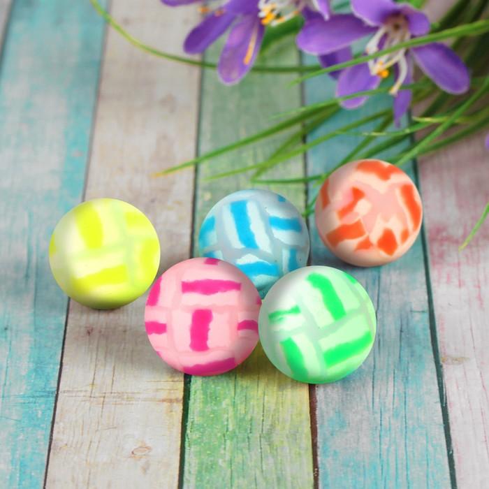 Мяч каучуковый «Трещины», 2,5 см, цвета МИКС