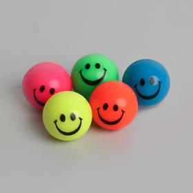 Мяч каучук «Весёлые смайлы», 2,7 см, цвета МИКС