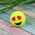 Мяч каучуковый «Смайлики», 3,2 см - Фото 2