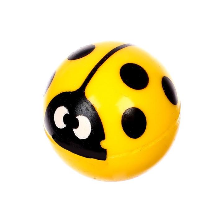 Мяч каучуковый «Божья коровка», 2,7 см, цвета МИКС