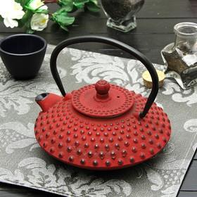 Чайник с ситом 800 мл 'Марокко', цвет красный, с эмалированным покрытием внутри Ош