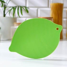 Доска разделочная Доляна «Листик», 15×21,5 см, цвет МИКС