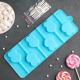 Форма для леденцов и мороженого «Влюблённость», 6 ячеек, цвета МИКС Ош