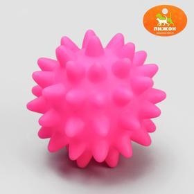 Игрушка пищащая 'Мяч с шипами', 6,5 см, микс цветов Ош