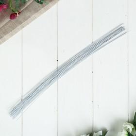 Проволока для изготовления искусственных цветов 'Белая' длина 40 см сечение 0,07 см Ош