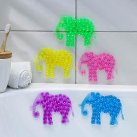 Мини-коврик для ванны «Слон», 9×12,5 см, цвет МИКС Ош