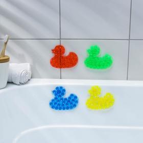 Мини-коврик для ванны «Уточка», 9×11 см, цвет МИКС Ош