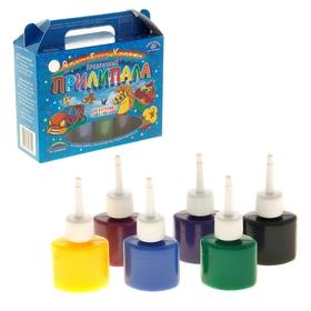 Краска по стеклу витражная, аппликация, «Прилипала», набор 6 цветов х 25 мл, «Аква-Колор» Ош