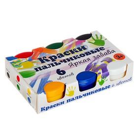Краски пальчиковые, набор 6 цветов х 60 мл, «Спектр», 360 мл, «Яркая забава» (от 3-х лет) Ош