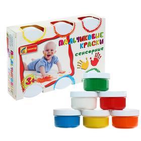 Краски пальчиковые, набор 6 цветов х 60 мл, «Спектр», 360 мл, сенсорные (от 3-х лет) Ош