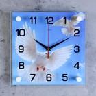 """Часы настенные, серия: Животный мир, """"Голуби"""", 25х25  см, микс"""